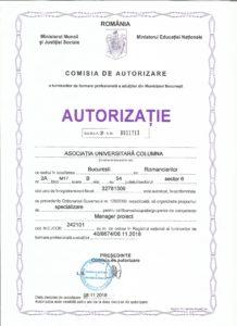 autorizatie organizare cursuri de perfectionare litoral